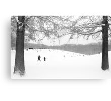 Black and white winter scene Canvas Print
