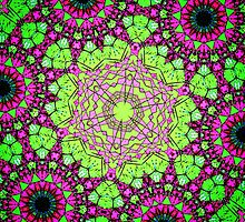 """Purple & Green Fractal Eater 2015"" by Fredfilms"