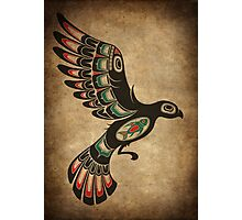 Red and Green Haida Spirit Flying Bird Photographic Print