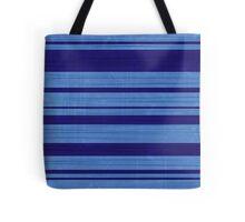 Worn Stripes: Cornflower and Navy Blues Tote Bag