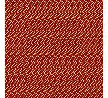 Harry Pattern - Gryffindor Photographic Print