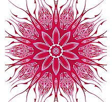 Red Pattern Kaleidoscope 02 Photographic Print