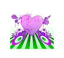 Retro Heart Photographic Print