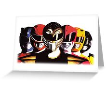 Mighty Morphin Power Rangers Greeting Card