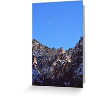 Moon Over Colorado Peaks Greeting Card