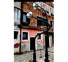 Kissing Lamp-post Photographic Print