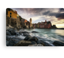 Sunset over Vernazza Canvas Print