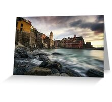 Sunset over Vernazza Greeting Card