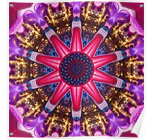Color Pattern Kaleidoscope Poster