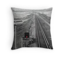 red signal Throw Pillow