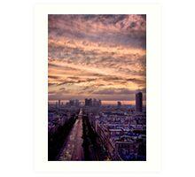 Red Sky Over Paris Art Print
