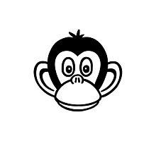 Monkey head Photographic Print