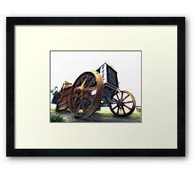 vintage tractor Framed Print