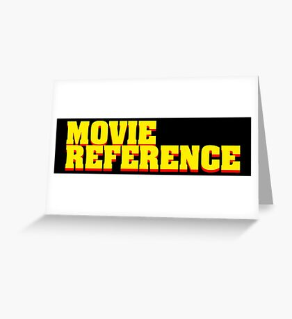 Movie Reference - Pulp Fiction Greeting Card