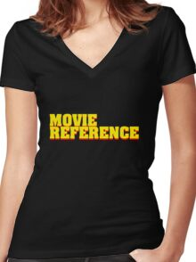 Movie Reference - Pulp Fiction Women's Fitted V-Neck T-Shirt