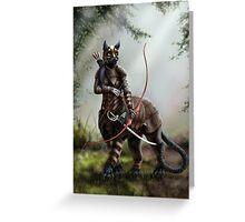 The Huntress - Felitaur Archer Greeting Card