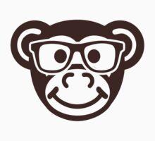 Monkey nerd hipster by Designzz