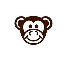 Monkey comic face Photographic Print