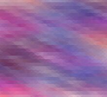 Washed Out Geometric: Purple, Blue, Peach and White by katmun
