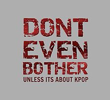 DONT BOTHER TOUGH - GREY by Kpop Love