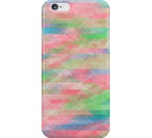 Washed Out Geometric: Rose, Spring Green, Turquoise iPhone Case/Skin