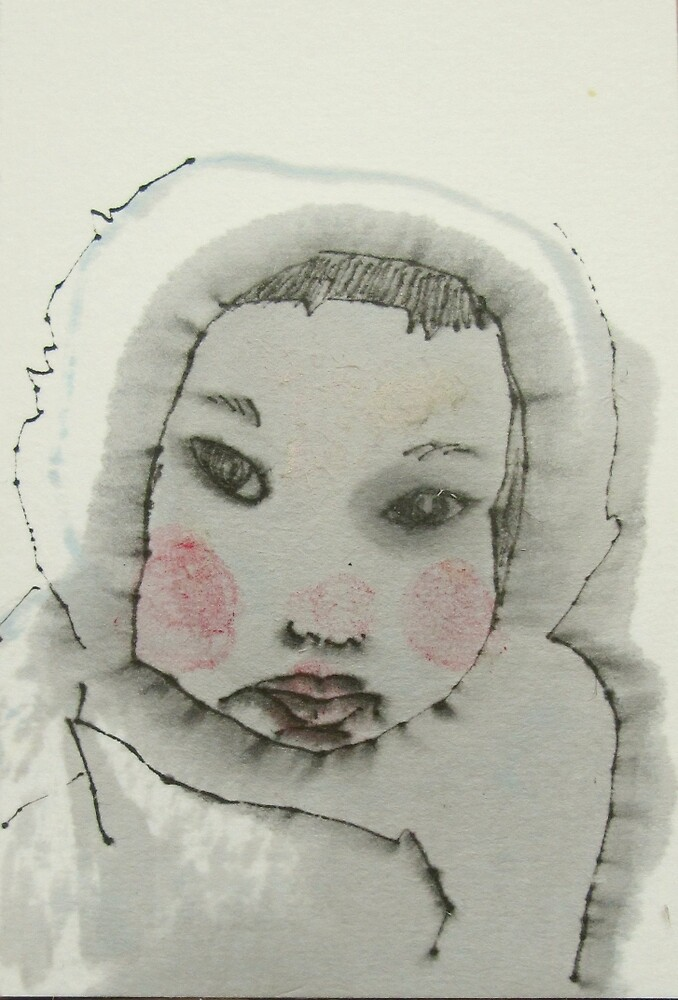 eskimo child postcard by donna malone