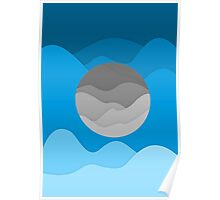 Floating Moon Poster