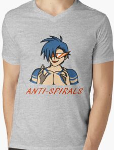 Kamina - Anti-Spirals Mens V-Neck T-Shirt