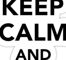 Keep calm and monkey on Sticker