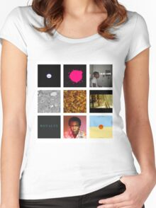Childish Gambino Discography Women's Fitted Scoop T-Shirt