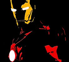 Iron Man - Black Background Nerdy by markomellark