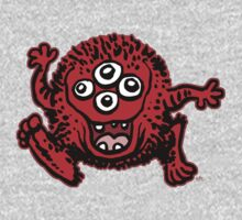Cute Cartoon Red Monster by Cheerful Madness!! Kids Clothes