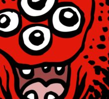 Cute Cartoon Red Monster by Cheerful Madness!! Sticker