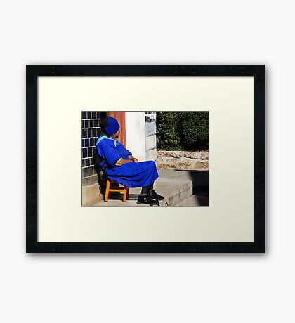 Elderly woman in Lijiang, China Framed Print