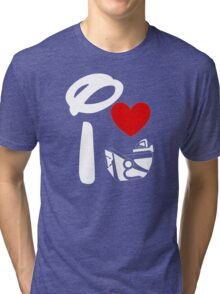 I Heart Astro Blasters (Inverted) Tri-blend T-Shirt