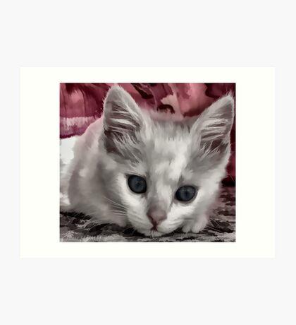 A Kitten Named Raiden Art Print