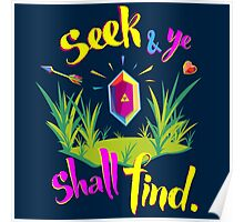 Legend of Zelda Seek and Ye Shall Find Poster