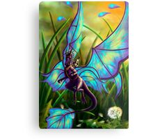 We Ride at Dawn - Mouse Warrior Riding Fairy Dragon Metal Print