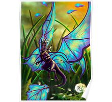 We Ride at Dawn - Mouse Warrior Riding Fairy Dragon Poster