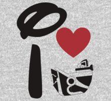 I Heart Astro Blasters One Piece - Long Sleeve