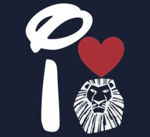 I Heart The Lion King (Inverted) Kids Clothes