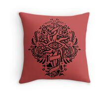 cassandra romance tattoo  Throw Pillow