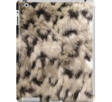Snow Leopard Faux Fur iPad Case/Skin