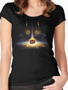 Legend of Zelda Majora's Mask Operation Moon Fall Women's Fitted Scoop T-Shirt