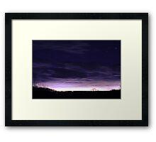 Balmy Winter Night Sky Framed Print