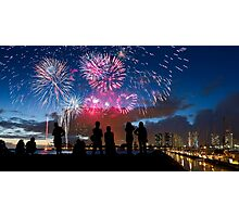 Fourth of July Fireworks Spectacular in Honolulu Photographic Print