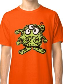 Cute Cartoon Green Monster by Cheerful Madness!! Classic T-Shirt