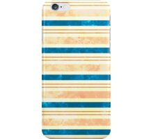 Sun Kissed Stripes: Cream, Rose, Brown and Blue iPhone Case/Skin