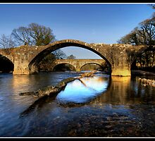 Hodder (Cromwell) bridge old and new by Shaun Whiteman