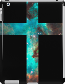 Green Galaxy Cross by rapplatt